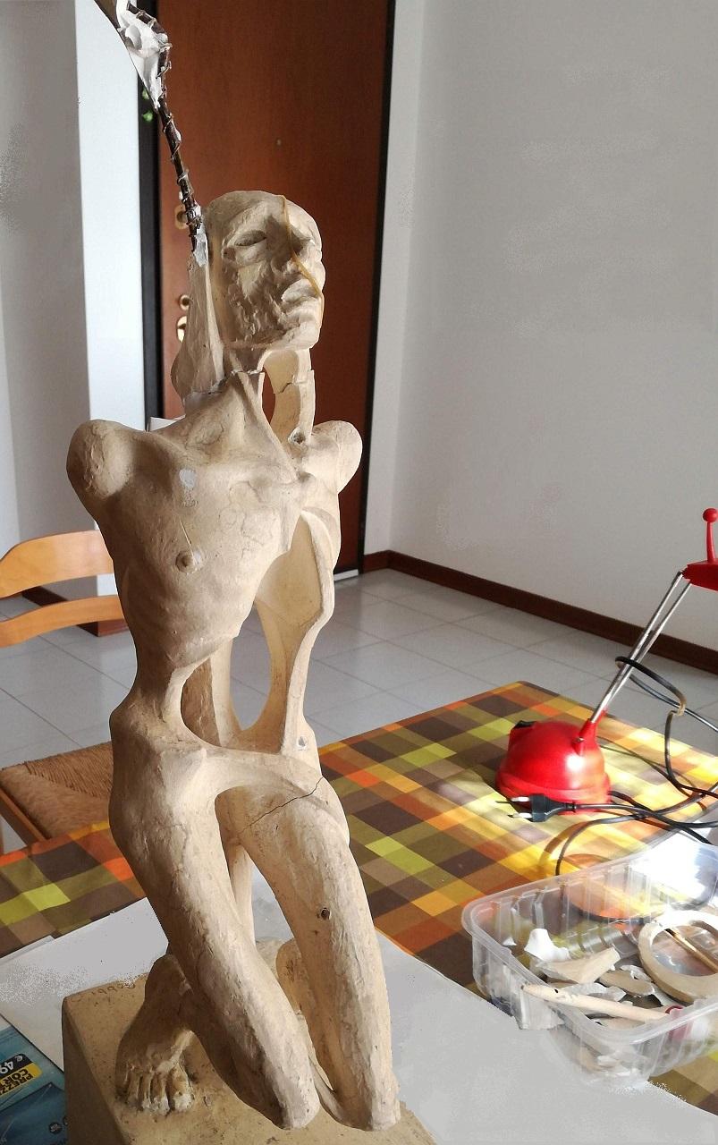 Orazio Bobbi - San Sebastiano prima del recupero