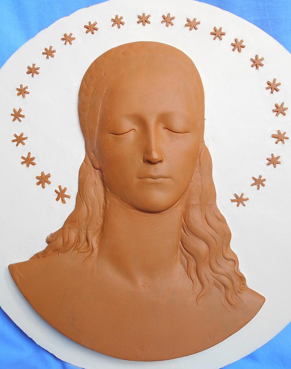 Orazio Bobbi - volto di giovane donna dopo il restauro