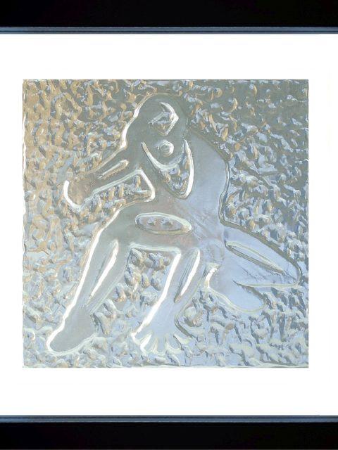 Spiderman - alluminio in cornice nera cm 25 x 25