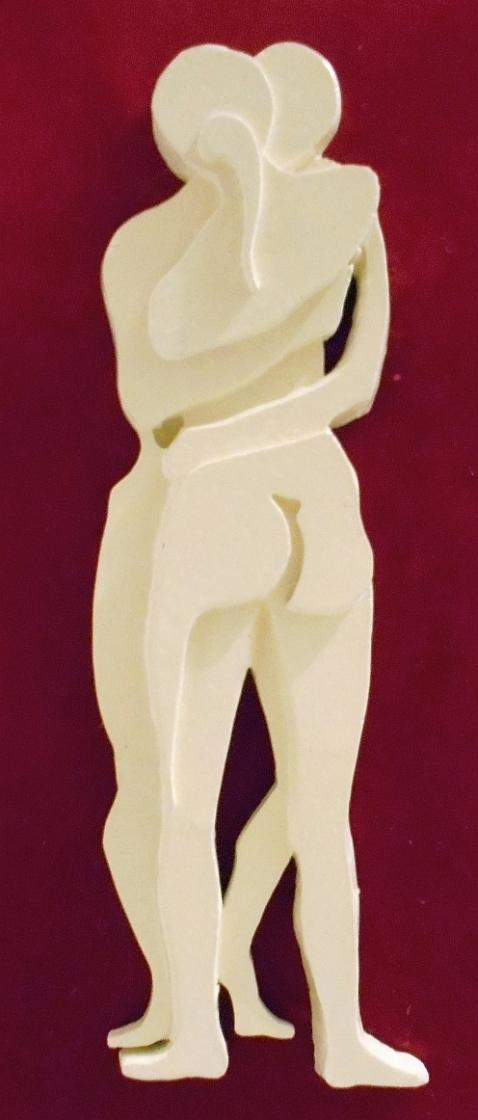 Orazio Bobbi - il Bacio, cm 28 x 10