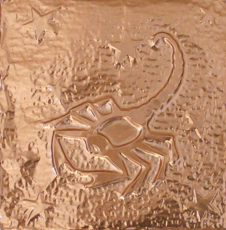 Orazio Bobbi - lo Scorpione in lamina di rame